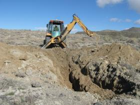 Digging Geotechnical Pit 4