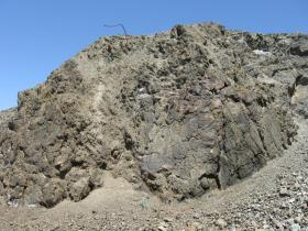 Historic Mining Face - High Grade and Desseminated Magneite